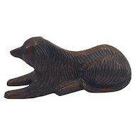 Folk Art Carving of a Spaniel Dog