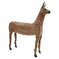 Early folk Art Carving of a Deer