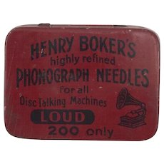 Henry Boker's Phonograph Needle Tin