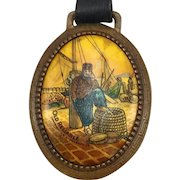 Vintage Old Reliable Coffee Advertising Watch Fob