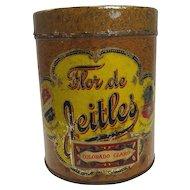 Vintage Flor de Jeitles Cigar Tin c. early 1900's