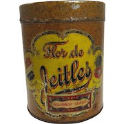 Vintage Flor de Jeitles Cigar Tin c. early 1900's