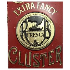 Vintage Cresca Raisin Tin
