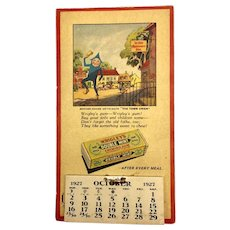 Wrigley's 1927 Calendar and Coupon Book