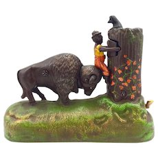 """Mechanical Bank - """"The Buffalo and The Boy"""" From the Book of Knowledge Series"""