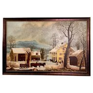 "Folk Art Painting of ""Jones Inn - Winter"""