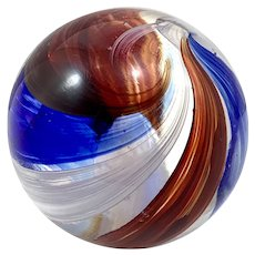 2 1/4 inch Swirl Marble with Sulphide Center