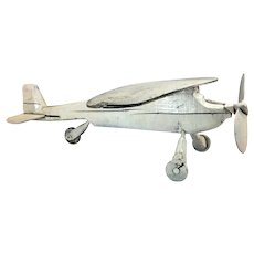 Folk Art Weathervane Plane