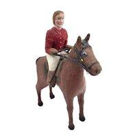 1930's Folk Art Horse and Rider