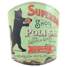 Superba Shoe Polish Advertising Broom Holder c.1910