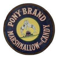 Pony Brand Marshmallow & Candy Tin