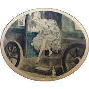 1929 Original Louis Icart Etching '1830'