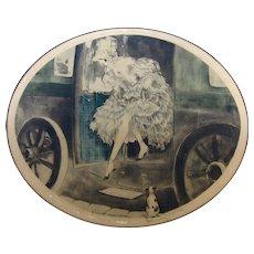 1929 Original Louis Icart Etching '1830'
