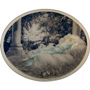 1927 Louis Icart etching of Sleeping Beauty