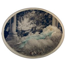 1927 Louis Icart etching of Sleeping Beauty