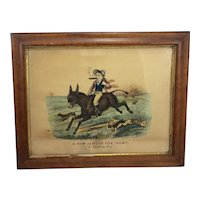 "Lithograph/Print by Thomas B Worth ""New Jersey Fox Hunt"""