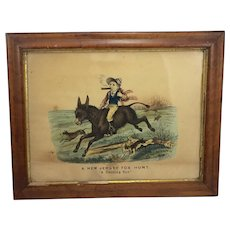 "Lithograph/Print by Thomas B Worth ""New Jersey Fox Hunt"""