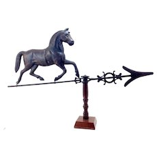 Antique Molded Trotting Horse Weathervane