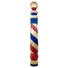 Vintage Wooden Barber Pole c.1950