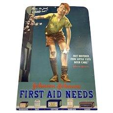 Johnson & Johnson Cardboard First Aid Sign