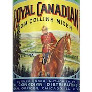 Royal Canadian Tom Collins Mixer Bottle