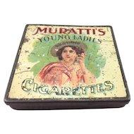 Scarce Muratti's Young Ladies Cigarette Tin