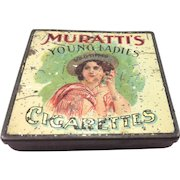 Scarce Muratti's Young Ladies Cigarette Tin