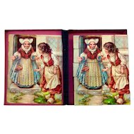 Antique lithograph picture block puzzle, fairy tales.
