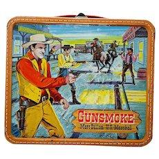Vintage Gunsmoke Tin litho Lunchbox & Thermos