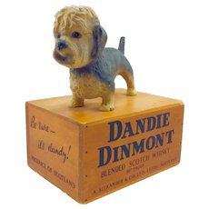Rare Dandie Dinmont Terrier Bar Advertising