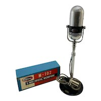 Vintage Olson M-102 Pill Microphone with Stand & Original Box