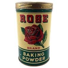 Rose Brand Baking Powder Tin