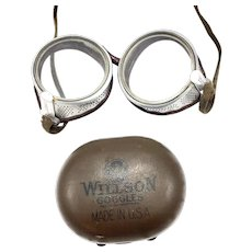 Vintage Wilson Motorcycle Goggles