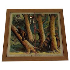 1870 McLoughlin Bros. Board Game Bear Hunt