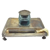 John Hunt Sterling Inkstand c. 1913