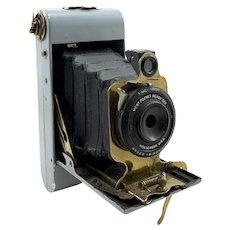 Rare 1920's Ansco Vest Pocket Folding Camera with Grey Enamel Finish