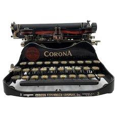 Corona 3 Folding Typewriter c.1912