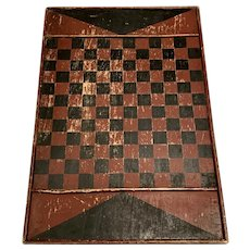 Antique Two-Sided Game Board