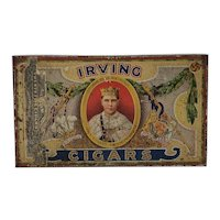 Vintage Irving Cigar Tin c.1920's Montreal
