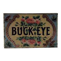Vintage Buck-Eye Cigar Tin c.1920 H.E. Ledoux Montreal