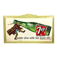 1961 7up Cardboard Advertising Sign