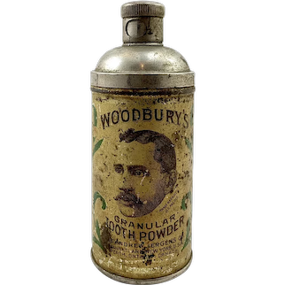 Early Woodbury's Tooth Powder Tin - Perth, Ontario