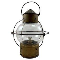 Antique Nautical Onion Lantern c. 1880's