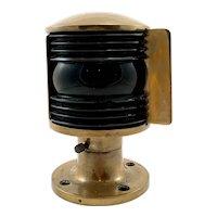 Perko Solid Brass Navigation Light c.1930's