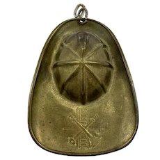 Miniature Brass Fireman's Helmet
