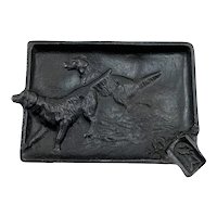 Cast Iron Advertising Ashtray With Hunting Dogs Staunton Paint & Wall Paper Co.