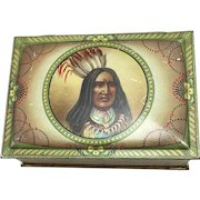Native Indian Biscuit Tin by C.W.S  c. 1920