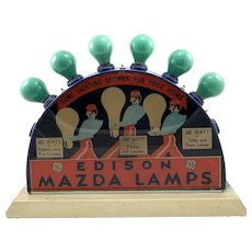 Vintage GE Edison Mazda Lamp Display
