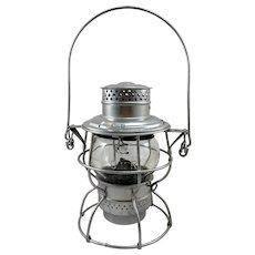Vintage Hiram Piper Adlake Canadian National Railroad Lantern with Original Globe