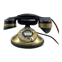 Automatic Electric Company Monophone Brass Rotary Telephone c.1920's